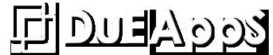 Dueapps logo white